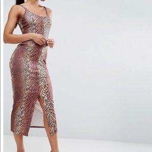 Bodycon Animal Print Maxi Dress